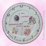 GIRL BIRD CUSTOMIZED PORCELAINE PLATE WITH BABY PHOTO INSIDE