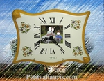 CLOCK PARCHMENT MODEL CUSTOMIZED WITH PHOTOGRAPH INSIDE