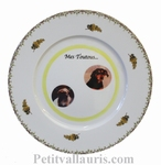 PLATE PORCELAIN MODEL MIMOSAS DECOR WITH PHOTO INSIDE