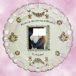TRADITION DECOR BIRTHDAY PLATE SUNFLOWER MODEL WITH FOTO