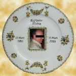 CUSTOMIZED PLATE PORCELAIN MODEL WITH PHOTO INSIDE