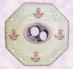CUSTOMIZED PLATE PINK MODEL OLD TRADITION MOUSTIERS +PHOTO
