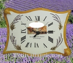 CLOCK PARCHMENT MODEL WITH LAVENDER DECOR WITH PHOTO