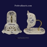 APPLY SWAN NECK BLUE OLD MOUSTIERS TRADITION DECORATION
