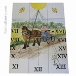 CERAMIC SUNDIAL FRESCO CARTER AND FIELDS OF RAPE DECOR 60x45