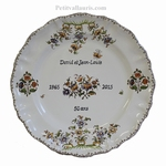 CERAMIC CUSTOMIZED MEMORY PLATE LOUIS XV MODEL