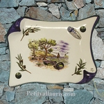 PLAQUE DECORATIVE PARCHEMIN DECOR CALANQUE,OLIVES ET CIGALE
