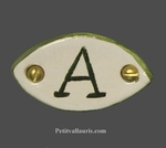 MEDALLION OVAL PANEL AND GREEN CUSTOM TEXT
