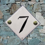NUMBER ADRESS PLAQUE GREY BORDER+ BLACK TEXTE DIAGONAL MODEL