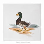 DECOR SUR CARRELAGE MURAL MOTIF ANIMAL DE LA FERME CANARD