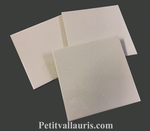 FAIENCE TILE 15  X 15 CM THICKNESS 0,5 CM WHITE CREAM COLOR