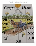 CERAMIC SUNDIAL FRESCO CARTER AND FIELDS OF RAPE DECOR 40x50