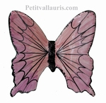 CERAMIC BUTTERFLY TO WALL FIX  PINK COLOR