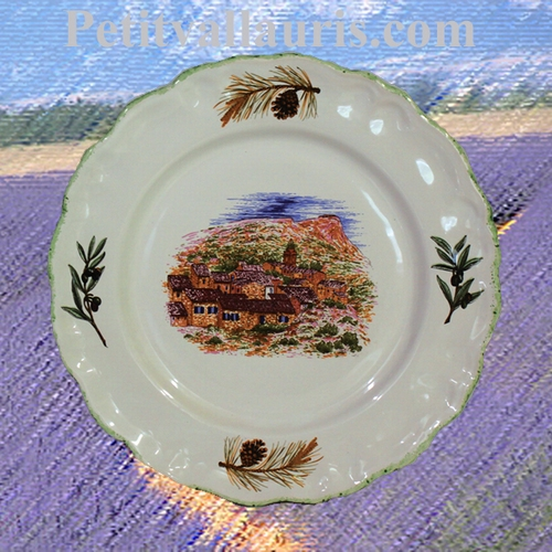 ASSIETTE MODELE LOUIS XV DESSERT DECOR PAYSAGE VILLAGE VAR