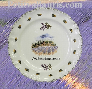 LOUIS XV PLATE MODEL LAVANDERS FIELD WITH CUSTOMIZED TEXT