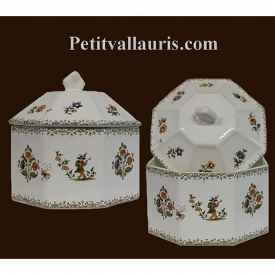 LIMP OCTAGONAL OLD MOUSTIERS TRADITION DECORATION