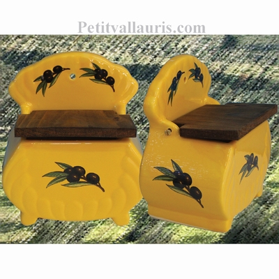 SALT BOX PROVENCAL COLOR WITH BLACK OLIVES DECOR