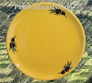 SIMPLE PLATE MODEL PROVENCAL COLOR AND BLACK OLIVES DECOR