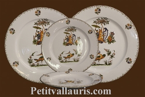ASSIETTE MARLY PLATE DECOR TRADITION VIEUX MOUSTIERS