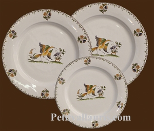 DESSERT PLATE MARLY MODEL OLD MOUSTIERS TRADITION DECORATION