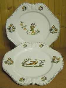 DESSERT PLATE EMPIRE MODEL OLD MOUSTIERS TRADITION DECOR