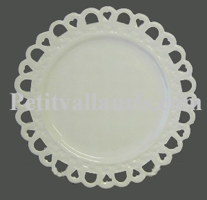 PLATE SUNFLOWER MODEL WHITE COLOR ENAMELLED