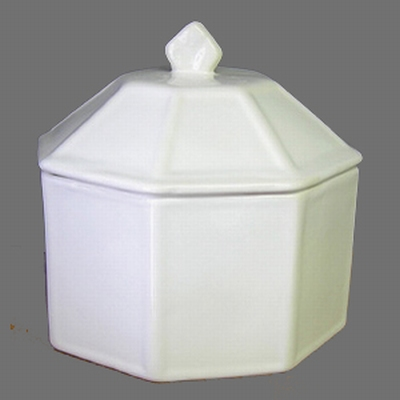 CANDY LIMP OCTAGONAL MODEL WHITE COLOR ENAMELLED
