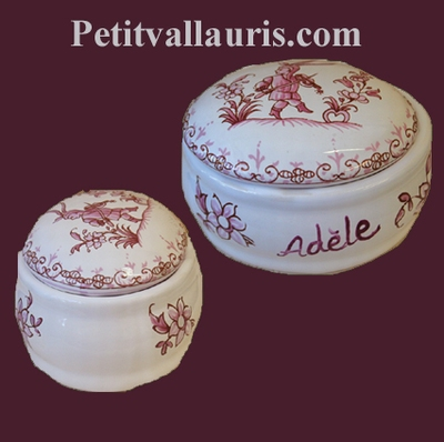 JEWELS LIMP OVAL MODEL OLD PINK MOUSTIERS TRADITION DECOR