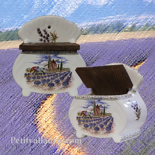 SALT BOX PROVENCE LANDSCAPE DECORATION