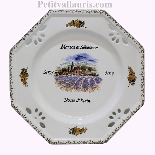 MARRIAGE PROVENCE PLATE DECORATIVE WITH CUSTOMIZED TEXT