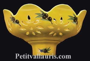 APPLY YELLOW PROVENCAL COLOR WITH BLACK OLIVES DECORATION