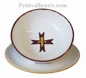 SOUP PLATE AND PLATE WITH CUSTOMIZE TEXT AND DECOR