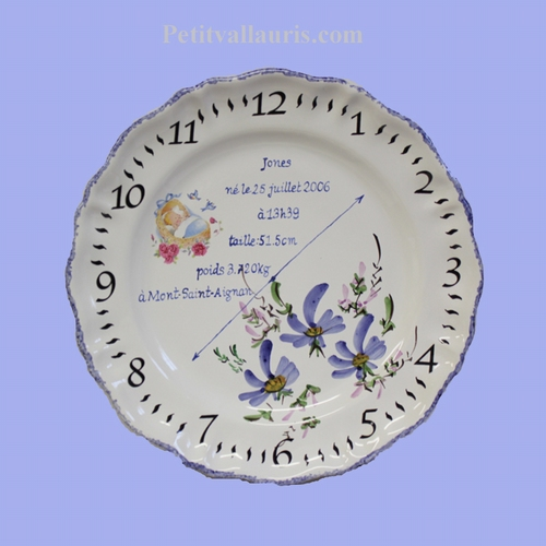 CERAMIC CUSTOMIZED STYLE PLATE FOR MEMORY LITTLE BOY BIRTH