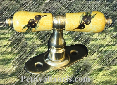 HANDLE WINDOWS BRASS (SIZE- FIXING STANDART) PROVENCAL COLOR