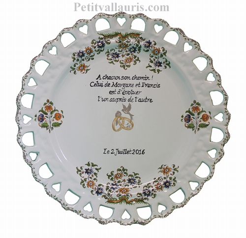 MARRIAGE PLATE SUNFLOWER MODEL WITH POEM WRITING ON TOP