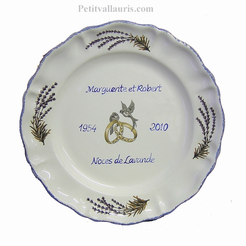 MARRIAGE STYLE PLATE MODEL WITH LAVANDER BRANCH DECORATION