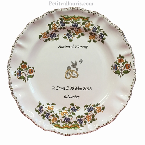 CUSTOMIZED MARRIAGE MEMORY PLATE LOUIS XV MODEL