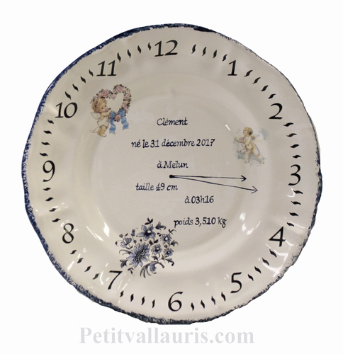 STYLE PLATE MODEL FOR MEMORY BOY BIRTH WITH ANGELS PAINTING