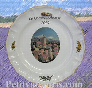PLATE LOUIS XV MODEL CUSTOMIZED DECORATION FOR  COMMUNITY