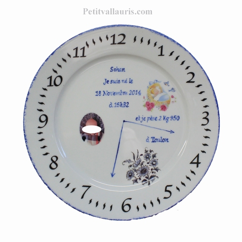 CUSTOMIZED OVAL DOOR PLAQUE WITH BABY PHOTO