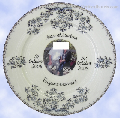 MEET BIRTHDAY PLATE PORCELAIN MODEL WITH PHOTO INSIDE
