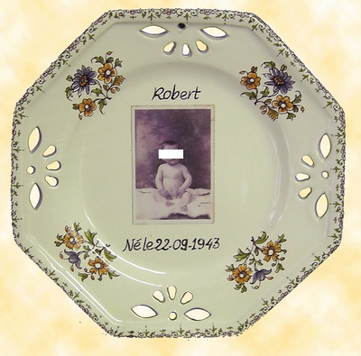 CUSTOMIZED PLATE OCTAGONAL MODEL POLYCHROME DECOR WITH PHOTO