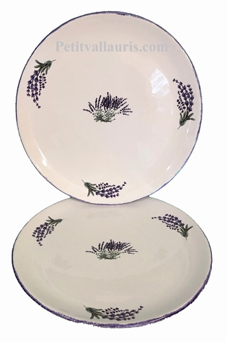 SIMPLE PLATE MODEL PROVENCAL WITH LAVANDER BRANCH DECOR