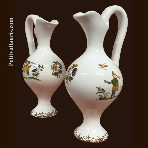 MINIATURE SIZE EWER OLD MOUSTIERS TRADITION DECORATION