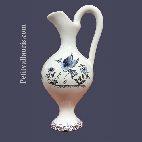 MINIATURE SIZE EWER BLUE OLD MOUSTIERS TRADITION DECORATION