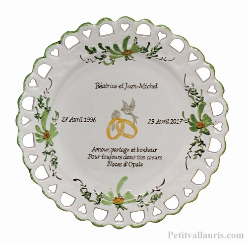 BIRTHDAY MARRIAGE PLATE SUNFLOWER MODEL GREEN COLOR+CITATION