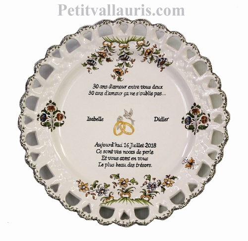 MARRIAGE PLATE SUNFLOWER MODEL WITH SILVER WEDDING POEM
