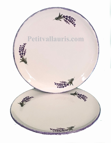DESSERT PLATE MODEL PROVENCAL WITH LAVANDER BRANCH DECOR