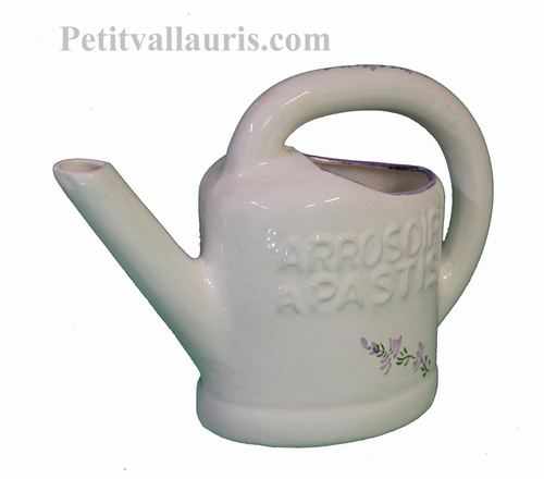 CERAMIC WATERING-CAN TO PASTIS WITH LAVANDER FLOWER DECOR