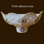 CERAMIC APPLY FACET MODEL OLD MOUSTIERS TRADITION DECORATION